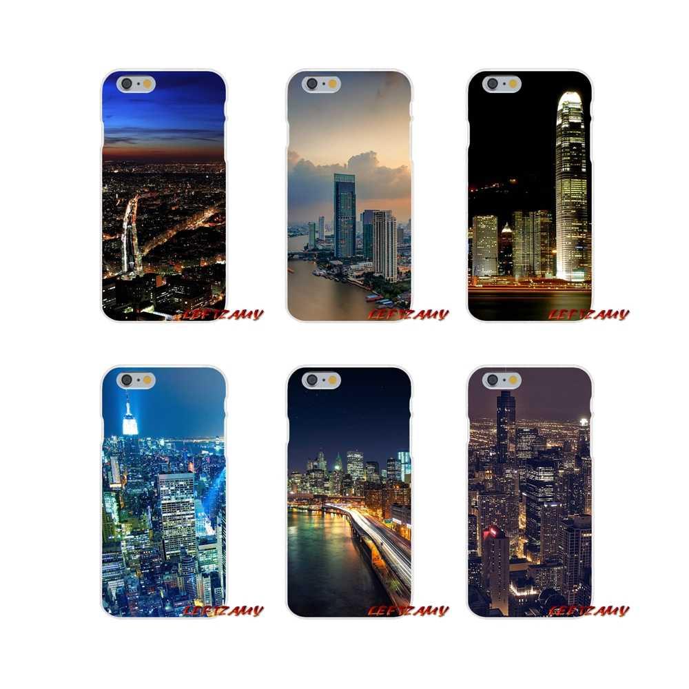 City night view Accessoires Telefoon Gevallen Covers Voor iPhone X XR XS MAX 4 4 s 5 5 s 5C SE 6 6 s 7 8 Plus