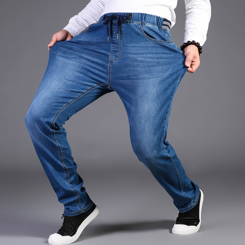 Men   jeans   pants large size 44 46 48 Trousers high strech   jeans   pants Elastic Waist Denim Pants straight 6xl 7xl 8xl 9xl pants