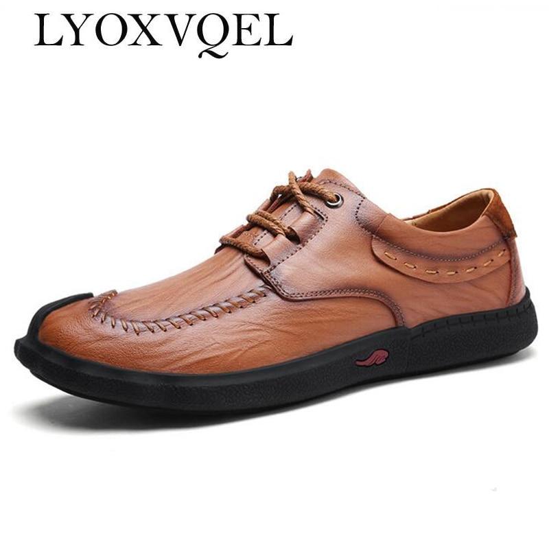 black À Mode Split Classique En Khaki Chaussures Appartements Résistant Casual Dentelle Cuir up Confortable L'usure Brown Respirant Hommes red M136 Style U6cpqf6