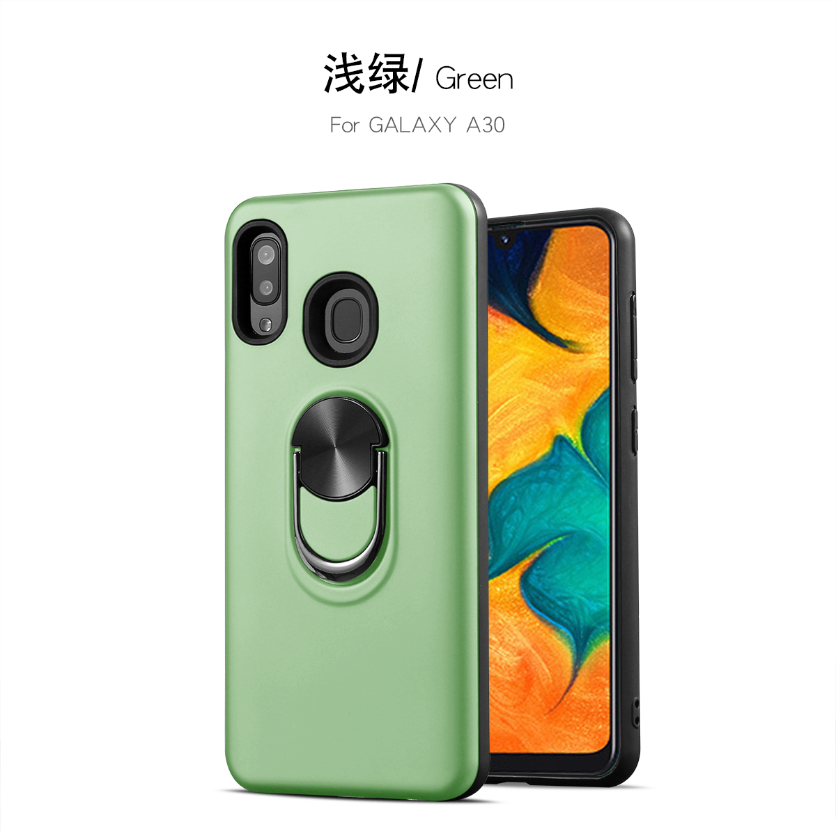 For Samsung Galaxy A30 A40 A50 A70 Case Hard PC+TPU With Stand Ring Magnet Armor Protect Back Cover Case for samsung A10 A20 M10 image