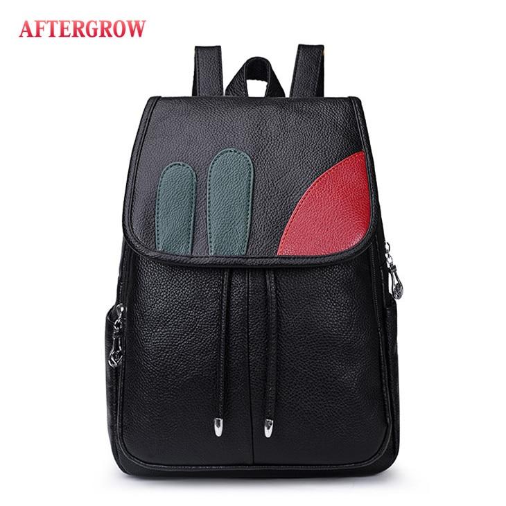 Fashion Women Backpack High Quality Youth Leather For Teenager Girls Casual Black Female Back Pack Bag Large mochila grande Sac