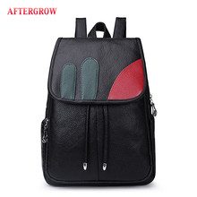Fashion Women Backpack High Quality Youth Leather For Teenager Girls Casual Black Female Back Pack Bag Large mochila grande Sac high quality solid pu leather backpack women bag vintage style black bagpack female casual college girl back pack youth 2018