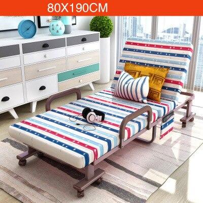 Simple Modern Folding Single Bed Office Living Room Balcony Lazy Noon Break Folding Bed Soft Cotton Fabirc Adjustable Sofa Bed - 3