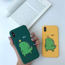 Cute Cartoon Dinosaur Candy soft TPU Phone Cases for iphone 7 8 Plus 5 5S 6 6S 7Plus X XR XS MAX The Lion King Back cover