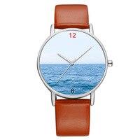 BAOSAILI Đẹp Màu Xanh Đại Dương Khuôn Mặt Phụ Nữ Đồng Hồ Cổ Tay Đồng Hồ cho Nam Giới Tay Đeo Tay Quà Giáng Sinh Đồng Hồ Bs9045