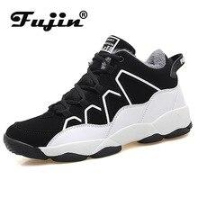 Fujin Warm Boots Women Dropshipping Winter New Men Shoes Plus Velvet Couples Sneakers Non-slip Wear-resistant Cotton
