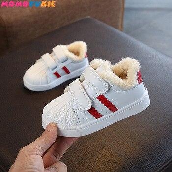 מכירה לוהטת ילדים של נעלי חורף חם צמר עבה בני בנות נוח לנשימה באיכות גבוהה אנטי להחליק ילד ספורט נעליים