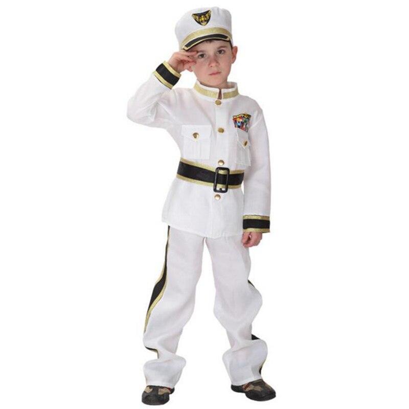 Новое поступление справедливости морской солдат Костюмы для косплея белый красивый топы с длинными рукавами и белые брюки + крутой с черным...