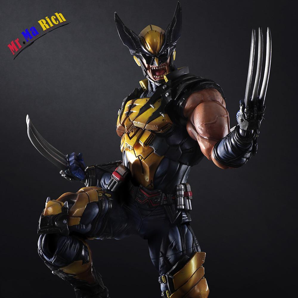 Play Arts 26cm Marvel X-men Wolverine Action Figure Model ToysPlay Arts 26cm Marvel X-men Wolverine Action Figure Model Toys