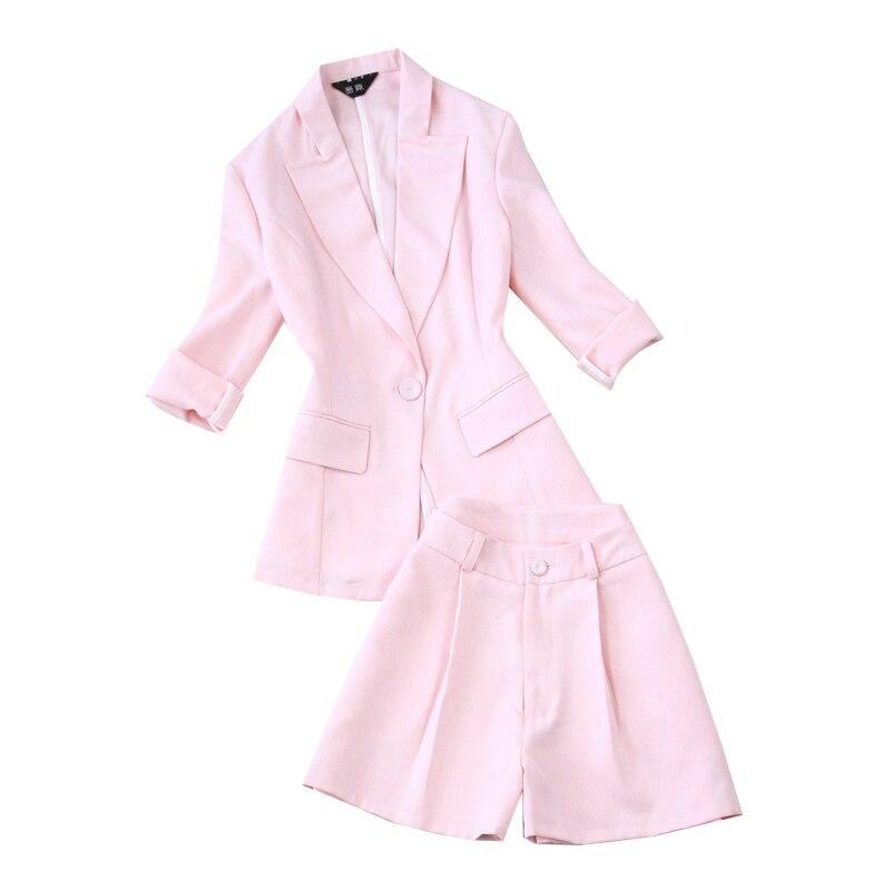 Professionnel Printemps D'été Lady Et Pièce Rose Féminin Nouveau Costume 1 Deux Femmes De Ol 2019 Mince Style Section Office Uniforme xwqgIZY4