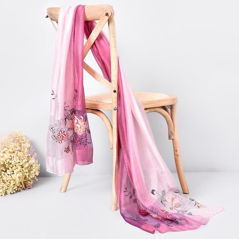 Жібек жүнінен жасалған шарф 2019 сәнді - Киімге арналған аксессуарлар - фото 3
