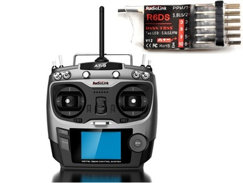 Radiolink 2.4G AT9 R6DS Remote Control System 9CH TX & 6CH RX Mode 2 for RC Helicopter Multirotor