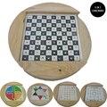 Creativa 5-en-1 Juguetes Juegos de Mesa Ajedrez Vuelo Damas De Madera Juguetes Educativos del Padre-niño Regalo Juguetes Para Niños Adultos