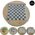Creative 5-in-1 Wooden Checkers Flight Chess Toys Board Games Parent-child Educational Toys Gift Toys Child Adult