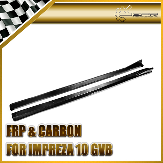 Car Styling For Subar GRB GVB Chargespeed Style Carbon Fiber Side Skirt Type 2