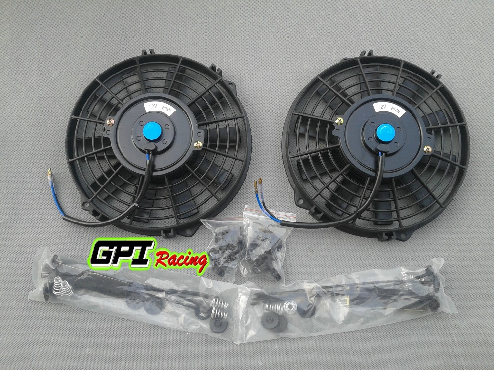 2x12v 12 Quot Slim Radiator Cooling Thermo Electric Fan