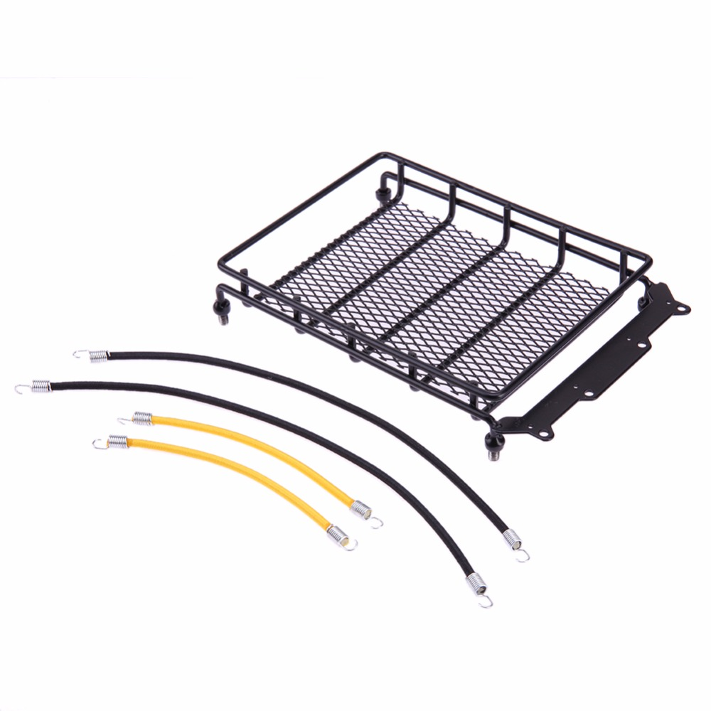 RC Rock Crawler Car Luggage Rack + 4pcs Elastic Roof Rack Rope Luggage Cord Set for Axial auxmart car roof rack cross bar for honda odyssey 2011 2017 top roof boxes 44 auto load cargo luggage carrier bike rack 132lbs