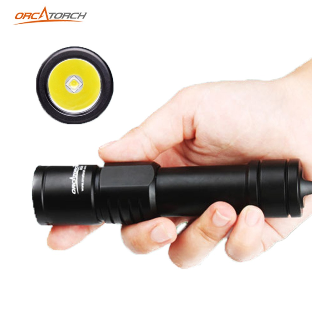 ORCATORCH Diving Flashlight Scuba Diving Light Submarine 1000LM Diving Backup Light 150M Underwater Diving Light