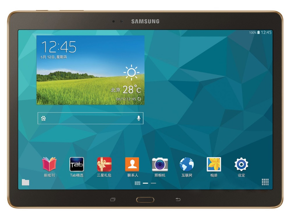 Samsung Galaxy Tab S 10.5 pollice T805 4g + WIFI Tablet PC 3 gb di RAM 16 gb di ROM Quad -core 7900 mah 8MP Fotocamera Android Tablet