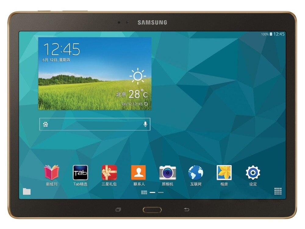 Samsung Galaxy Tab S 10,5 дюймов T805 4G + WI-FI Tablet PC 3 ГБ Оперативная память 16 ГБ Встроенная память Quad-core 7900 мАч 8MP планшет с камерой на ОС андроид