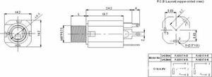 Image 2 - 50pcs/lot Audio Jack Guitar PJ 612 6.35 3Pin Metal Dual channel Video socket