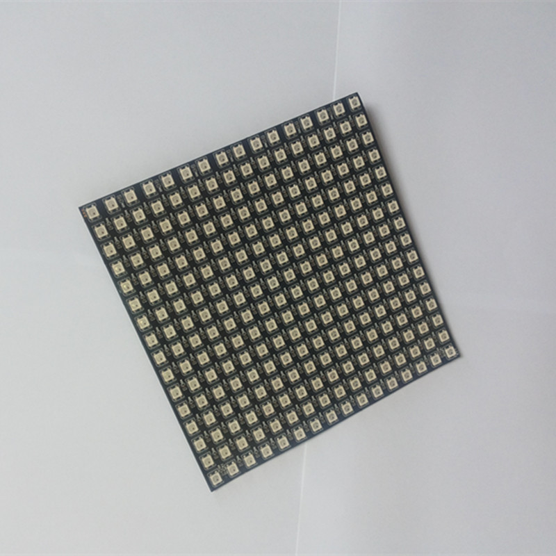 1 pcs/lot DC5V 16x16 Pixel WS2812B LED Digital Flexible Individually addressable Panel light
