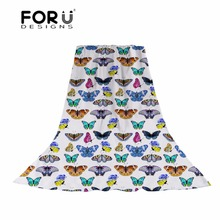 FORUDESIGNS 3D Butterfly Printing Women Long Scarves Ladies Thin and Light Slik Scarf Females Fashion Bohemian Head Travel