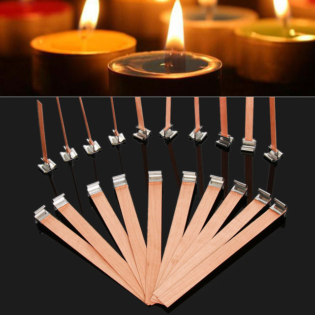 6/8/10/12.5/13mm Wooden Wick Wax Candle Core Square Candlestick Sustainer Tabs Stand Alloy Oil Lamps Making Supplies DIY Craft