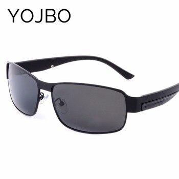 YOJBO gafas de sol para hombres, gafas de hombre Vintage Retro diseñador de la marca 2019 negro de alta calidad gafas de sol para hombres clásico de aleación de Marco