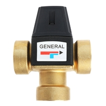 3 Way Brass Male Thread Thermostatic Mixing Valve DN20/DN25 Solar Water Heater Valve 3-Way Thermostatic Mixer Valve 3/4
