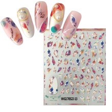 MGM-522-13 marbling design nail sticker 3d Japan style decoration for wraps