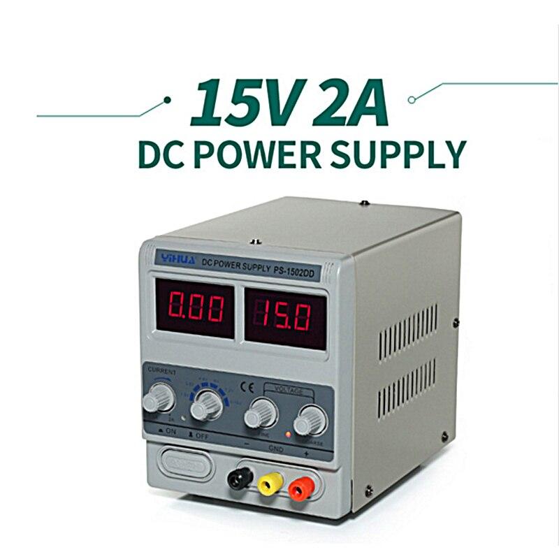 YIHUA 1502DD DC Power Supply Digital Adjustable DC Power supply 15V 2A High precision Short circuit proof 110V 220V 230V 240V