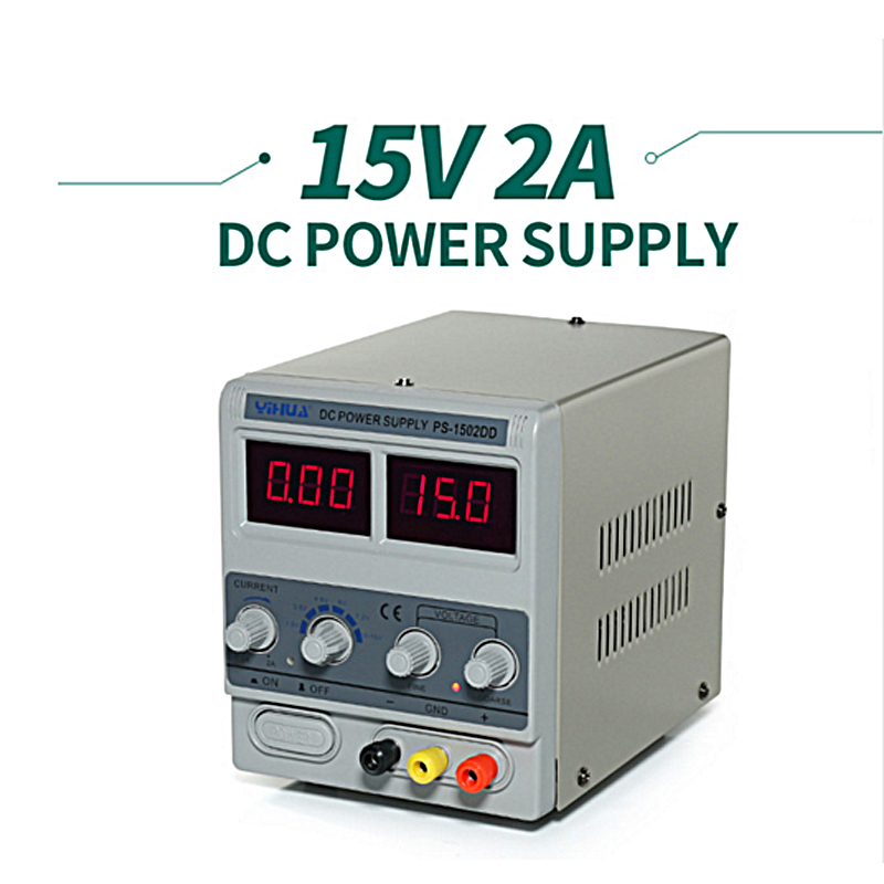 YIHUA 1502DD DC Power Supply Digital Adjustable DC Power supply 15V 2A High precision Short circuit proof 110V 220V 230V 240V rps3020d 2 digital dc power adjustable power 30v 20a power supply linear power notebook maintenance