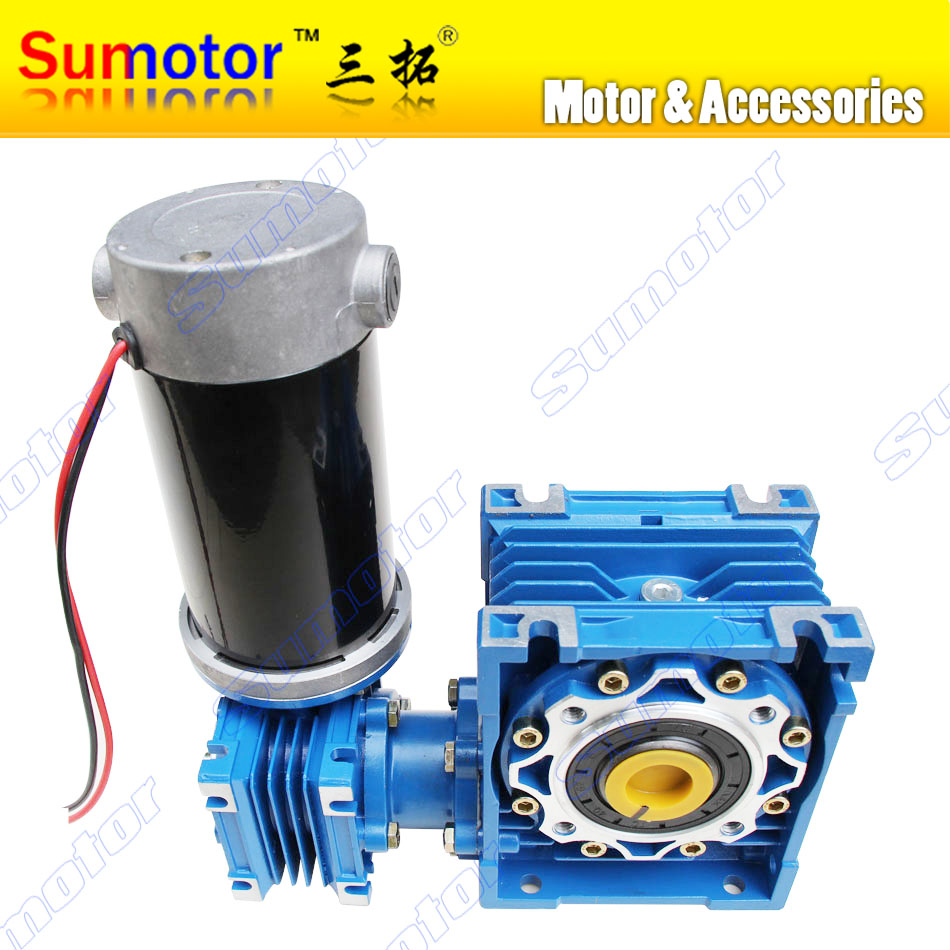 DC 24V 6 5A 100W GW030050 Ultra low speed High Transmission ratio High Torque dual shaft