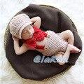 Новая мода детская вязаная шапка и общая бантом набор новорожденный фотографии реквизит ребенка clothing all kids clothing and accessories