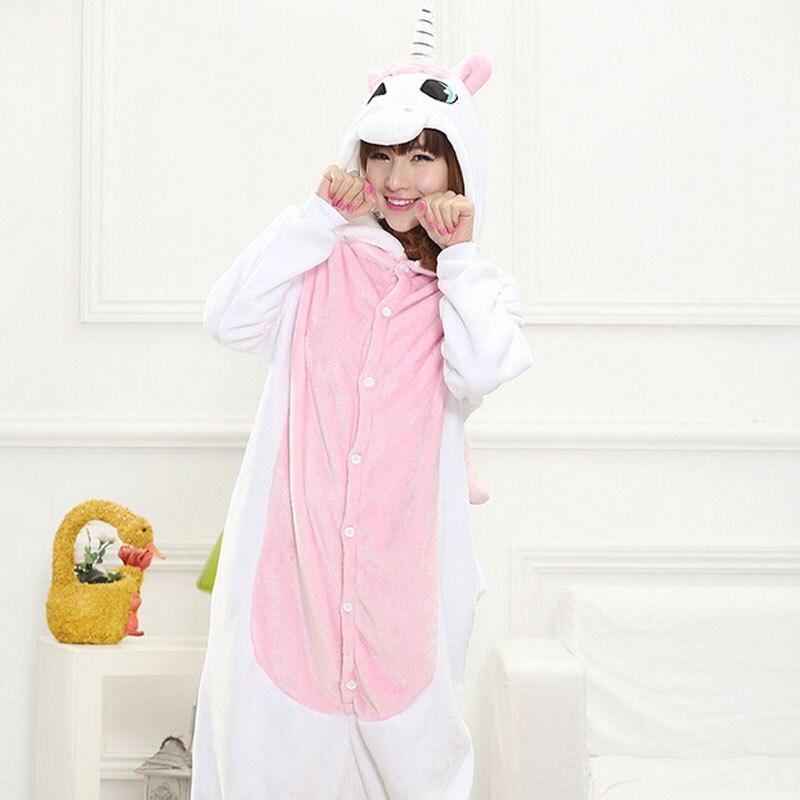 Tier Kigurumi Onesie Erwachsene Männer Frauen Einhorn Nachtwäsche Pyjama Weichen Phantasie Anime Unicornio Pijima Insgesamt Nachtwäsche Onepiece