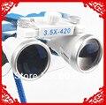 Promoção 3.5X420mm Portátil Azul Dentista Médico Cirúrgica Binocular Dental Loupe Vidro Óptico