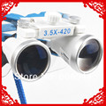 Promotion 3.5X420mm Portable Blue Dentist Surgical Medical Binocular Dental Loupe Optical Glass