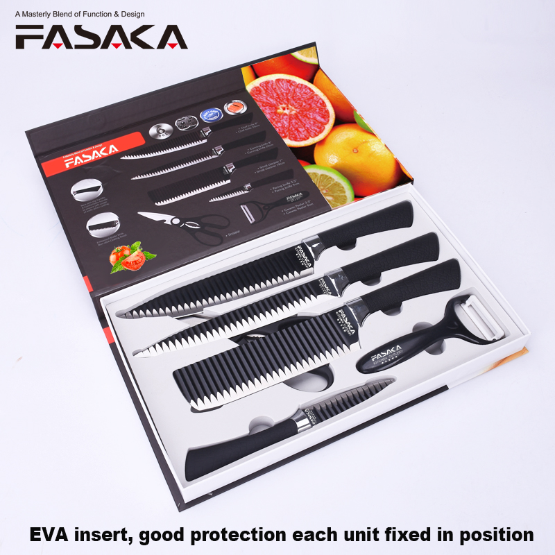 High Quality 6pcs Kitchen knives Kitchen Knife sets with 8 Chef Carving 7 Small Cleaver 3