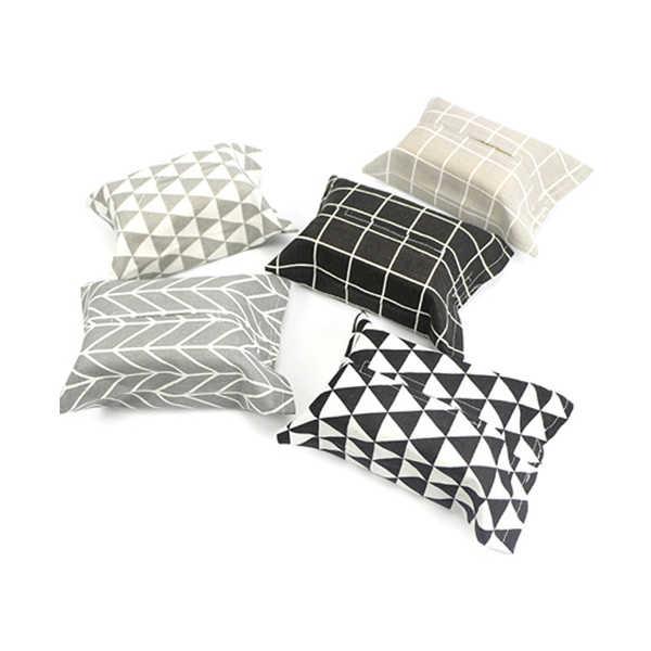 1 peças De Linho Capa Saco de Guardanapo de Papel Caixa de Tecido Em Casa Cozinha Sala de estar Tecido Caixas Titular E2S
