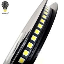 100 Uds LED blanco 5050 LEDs de alto brillo Diodo Azul Luz 6500K SMD diodos emisores de Luz SMD 5050 blanco Luz Diodo 18lm