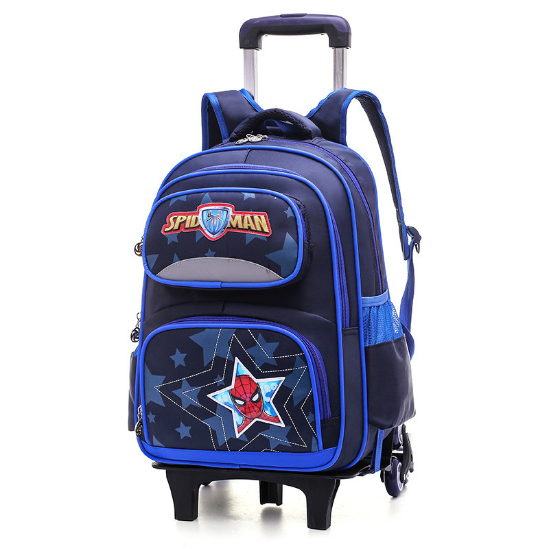 2/6 Wheels Children Trolley Backpacks Boys Schoolbag Kids School Bags Luggage Bag grils Wheels Backpack travel Rolling Backpack