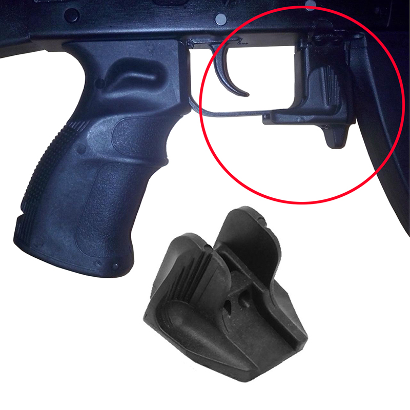 Balight Softair Airsoft Polymer Magazine Release Extension Plastic AKMR