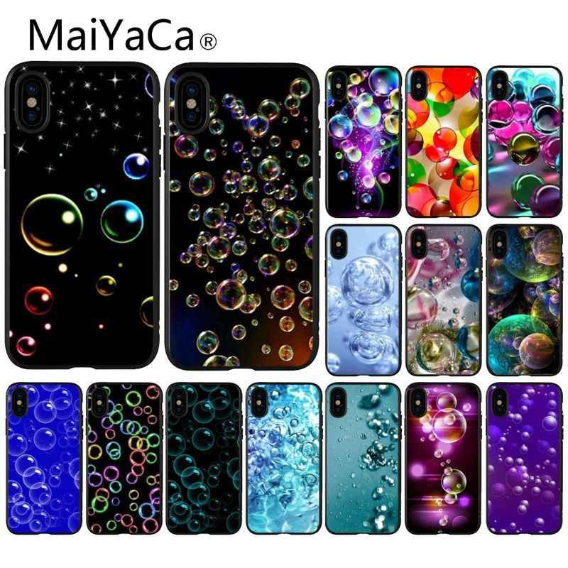 MaiYaCa Dream bubble TPU черный чехол для телефона чехол для Apple iPhone 8 7 6 6 S Plus X XS MAX 5 5S SE XR мобильные чехлы