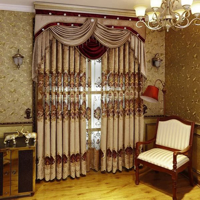 european royal luxury curtains for bedroom window curtains for