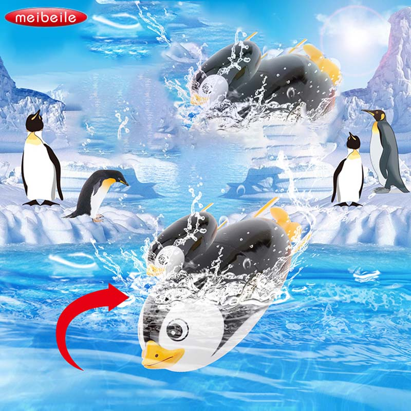 Baby kinder Geschenke Lustige Elektrische Tauchen Spielzeug Pinguin hochfeste Wasserdichte Spielzeug Led-unterwasserschwimmbecken Spielzeug Neuheit spielzeug