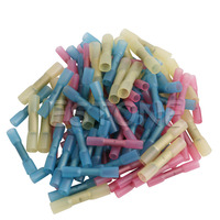 100Pcs Assorted Heat Shrink Butt Wire Electric Crimp Terminal Connector 22 10AWG