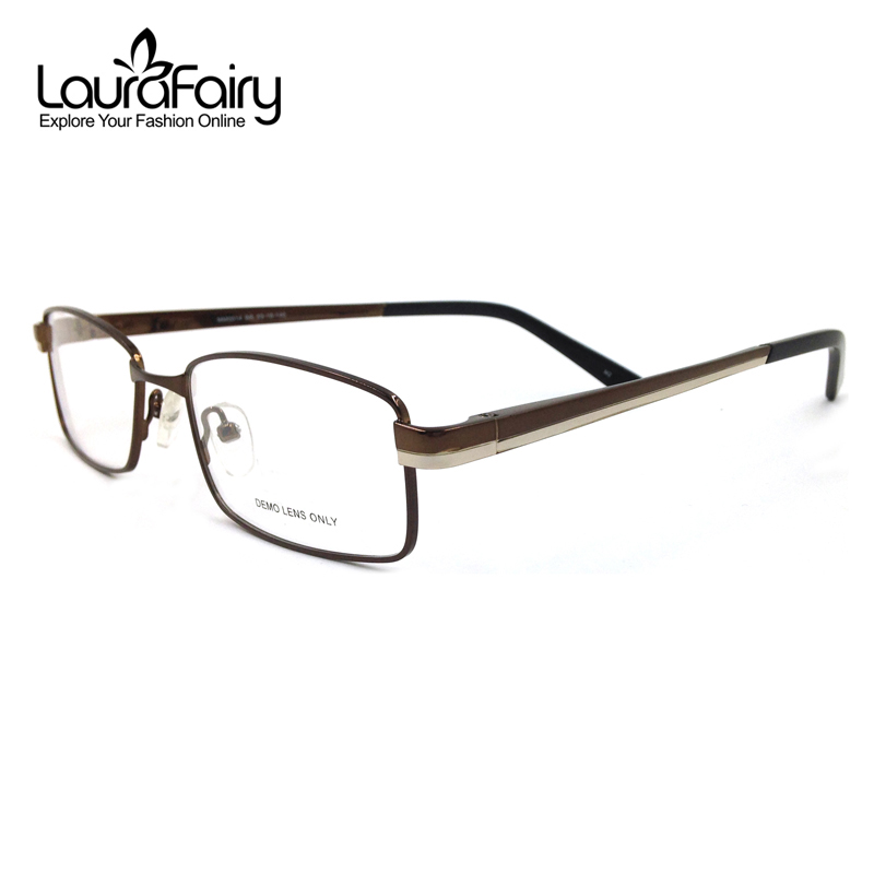 Laura Fairy Gentleman Brand Designer Eyeglasses Frames Men Stainless ...