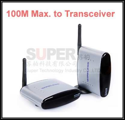 100M to work,Reverse control,2.4G STB wireless sharing device,transceiver 2.4G Video Audio Transmitter Receiver wireless adapter