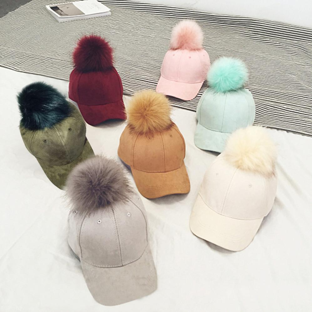 f607061a1dc top 10 largest fur pom cap baseball ideas and get free shipping ...